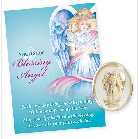 AngelStar 8707 Blessing Angel Stone - Pack of 4