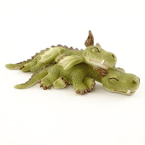 Top Collection Miniature Fairy Garden and Terrarium Mini Dragons Cuddl