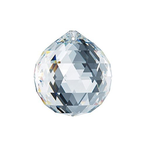 Swarovski Spectra Crystal 30mm Clear Lead Free Feng Shui Crystal Crystal Crystal Ball, 2cb