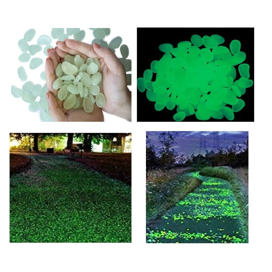 stymx 350 PCS Glow Stones, Glow Glow Glow in Dark Gardon Pebbles Luminous Rocks 137