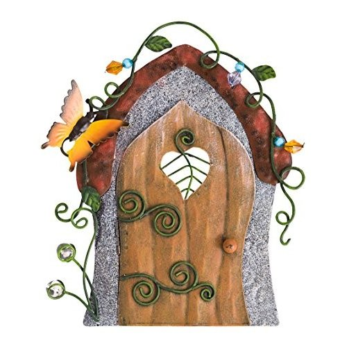 Wind & Weather GO7987BFY GO7987BFY GO7987BFY Metal Fairy Door, Butterfly d56