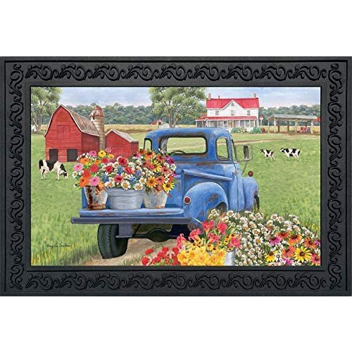 Briarwood Lane Day On The Farm Spring Doormat Pick-up Truck Indoor Out