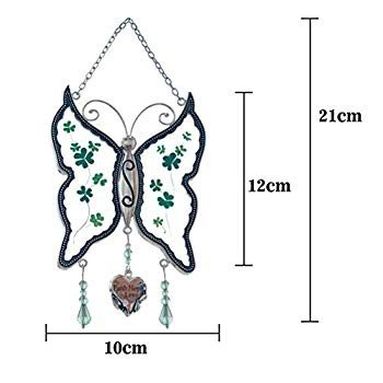 Cos2be Cos2be Cos2be Butterfly Suncatcher with Pressed Flower Wings in Glass Ornamen 8da