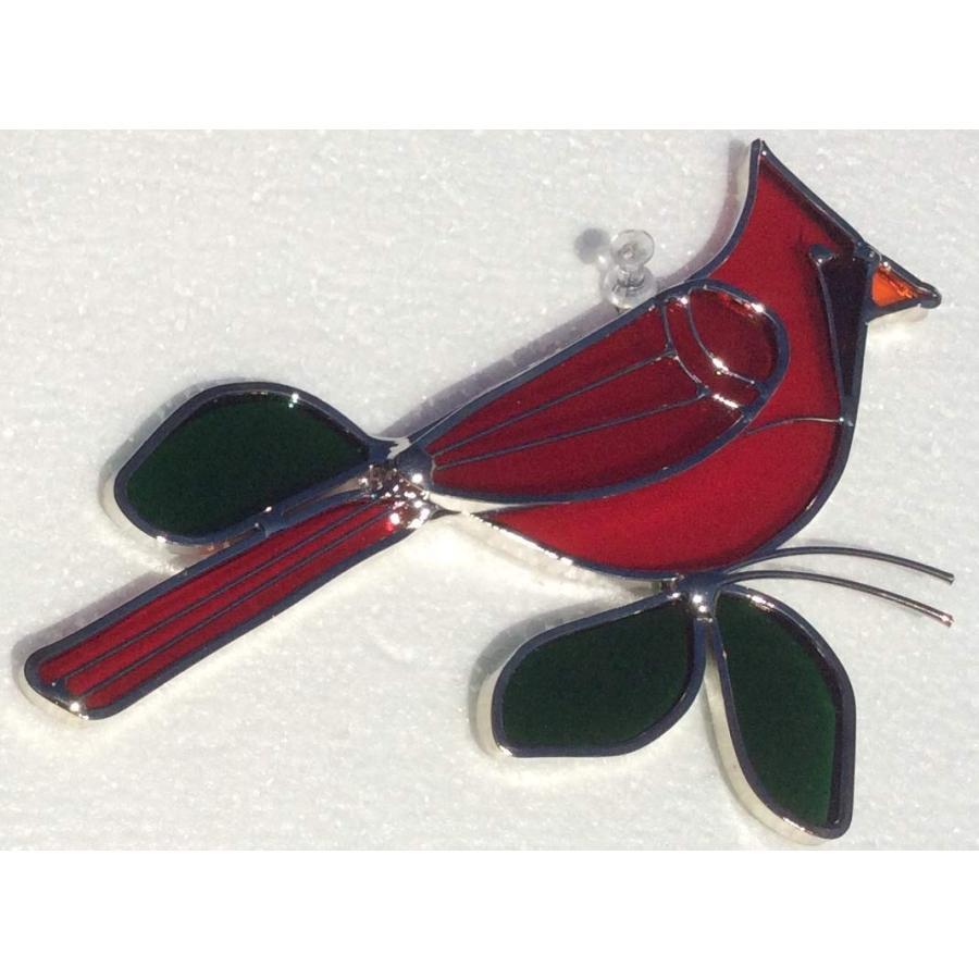 JGS Stained Glass Cardinal Suncatcher - 7