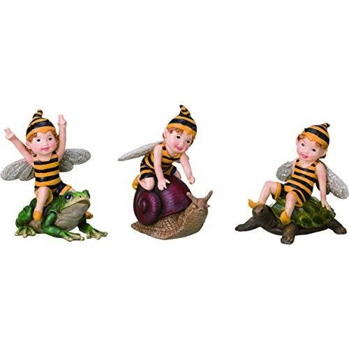 "Bumble Bee Bee Bee Fairy Figurines 4"" High - Set of 3 658"