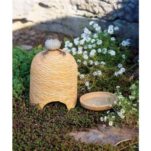 Ancient Graffiti Ceramic Toad House with Bath