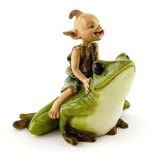 Top Collection Miniature Garden Pixie Riding Frog