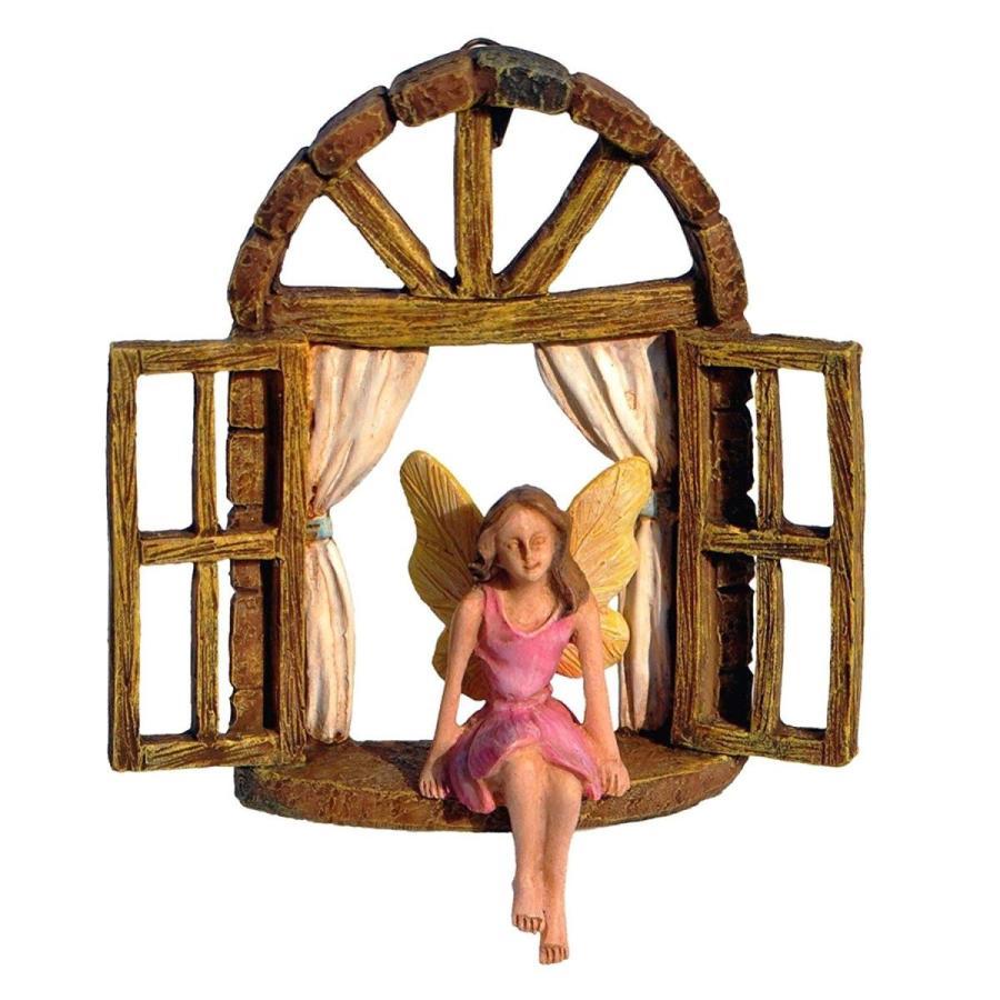 Fairy in Window Seat - - - Miniature Fairy Garden Accessory c07
