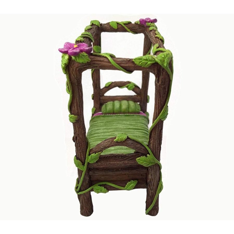 Miniature Fairy and Baby Gnome Bed - a a a 4-Post Miniature Bed for your F 7be