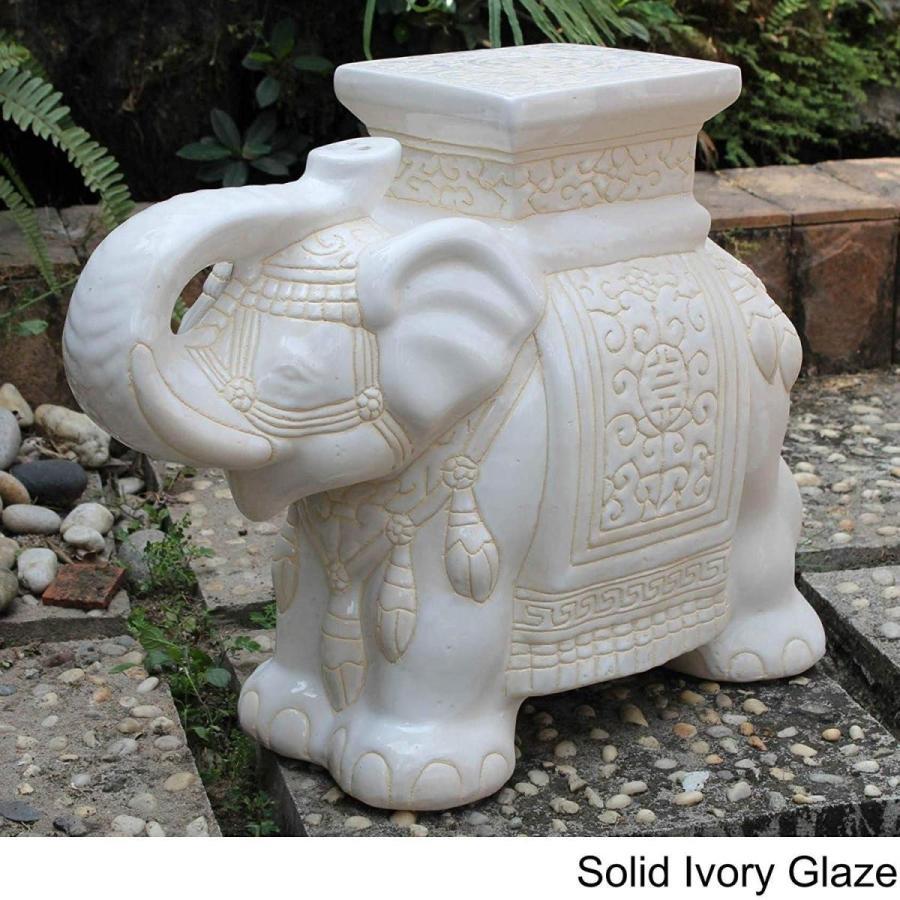 MISC Large Porcelain Elephant Ivory 青 Zen Statue Outdoor Garden Dec