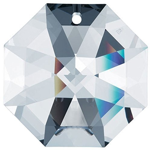 Swarovski 8115-50mm Lily Octagon Crystal Prism SunCatcher with Etched