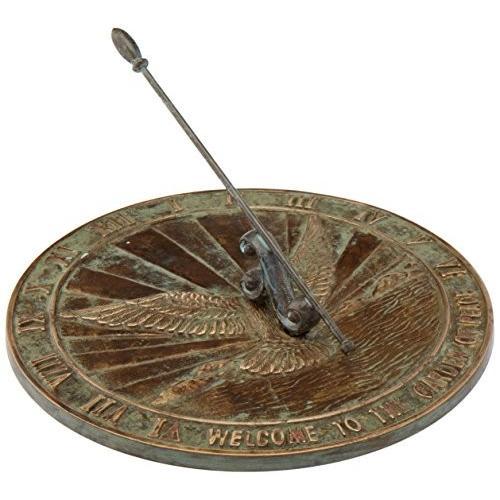 Rome Solid Peace Dove Sundial, Brass