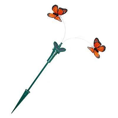 HQRP Twin Solar Powe赤 オレンジ Monarch Flying Butterflies for Garden P