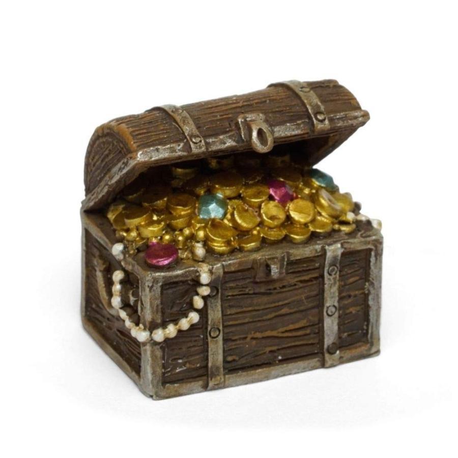 Miniature Dollhouse Fairy Fairy Fairy Garden - Pirate Treasure Chest - Accessories a93