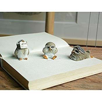 Top Collection Miniature Fairy Garden & Terrarium Cute Little Little Little Owls Sta 58b