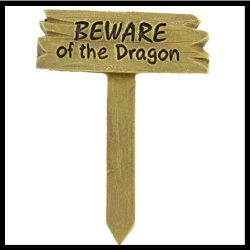 ShopForAllYou Figurines and Statues Statues Statues Fairy Garden Fun Beware of Dragon 577