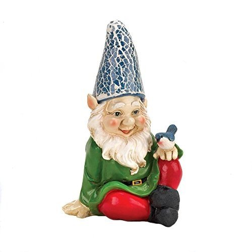 Eastwind Eastwind Eastwind Gifts 10016215 Cheery Gnome Solar Garden Statue d8f