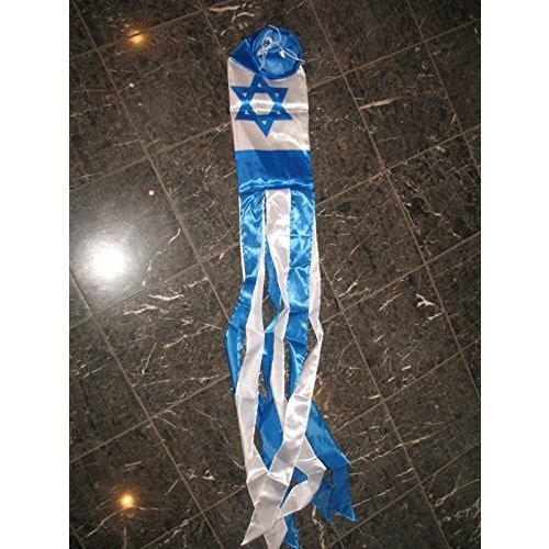 "60"" Isreal Star Nylon Wind Sock Windsock Vivid Color and and and UV Fade Resis 3c4"