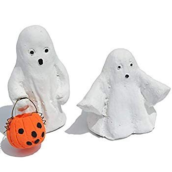Miniature Fairy Garden Trick or Treat Ghosts, Ghosts, Ghosts, Set of 2 ebb