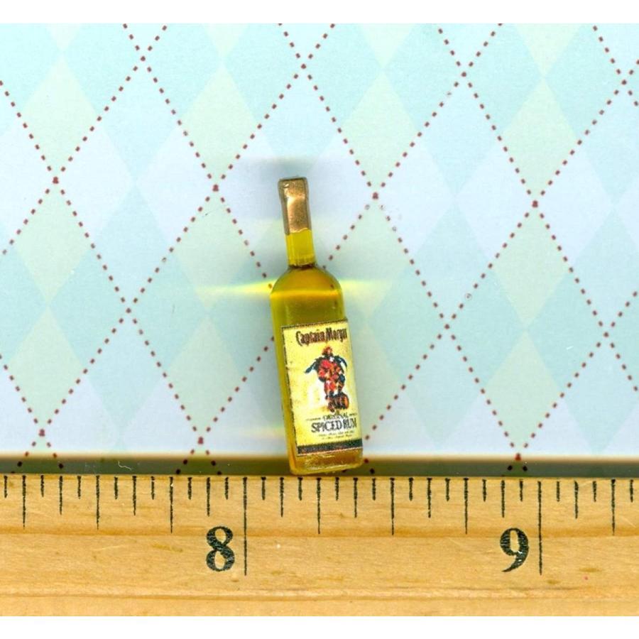 Dollhouse Miniature Size Spiced Rum Bottle # C M S - My Mini Fairy Gar