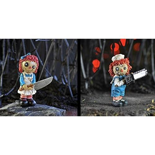 Fiddlehead Fairy Garden Bundle of 2 2 2 Psycho Massacre Rag Dolls d9b