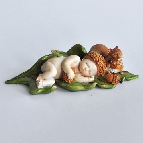 Top Collection Miniature Fairy Garden and Terrarium Terrarium Terrarium Sleeping Acorn Fai c33