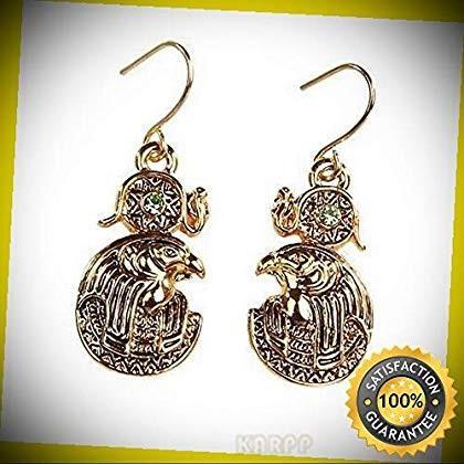 KARPP MYSTICA Fashion Egyptian Horus RA Falcon Earrings Pewter Pewter Pewter Alloy P 9ad