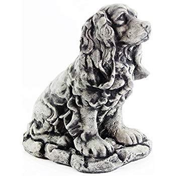 Dog Statue Cocker Spaniel Garden Statue Puppy Outdoor Cement Dog Figur