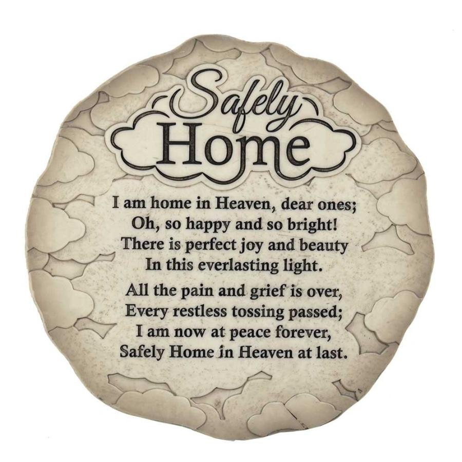 Dicksons Safely Home Memory Quote Textu赤 9.75 x 9.75 Resin Garden St