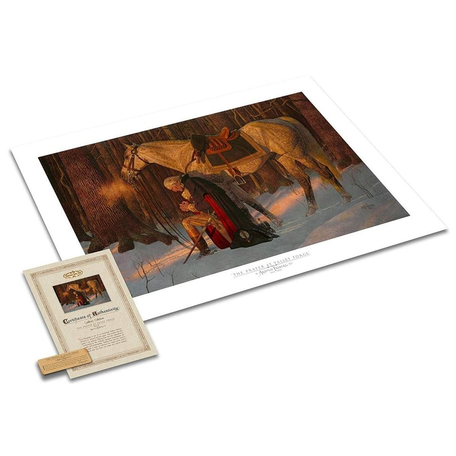 11134 - The The Prayer at Valley Forge Textu赤 Gallery Print - 17x27 - GW