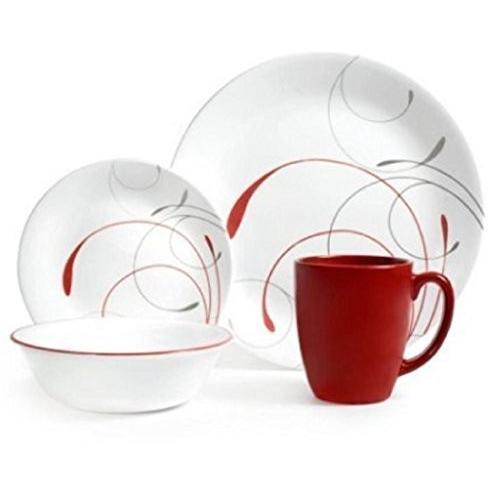 Corelle Livingware 32-Piece 32-Piece Dinnerware Set, Splendor Coupe Service for