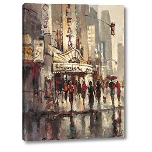 """City Scene by by Brent Heighton - 25"""" x 33"""" Gallery Wrapped Giclee Canvas"""