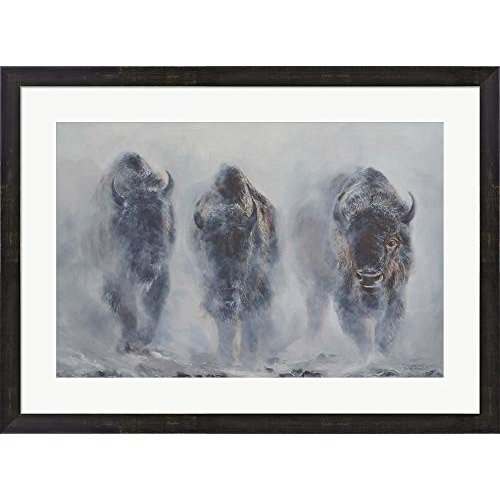 Giants in The The Mist by James Corwin Fine Art Framed Art Print Wall Pict