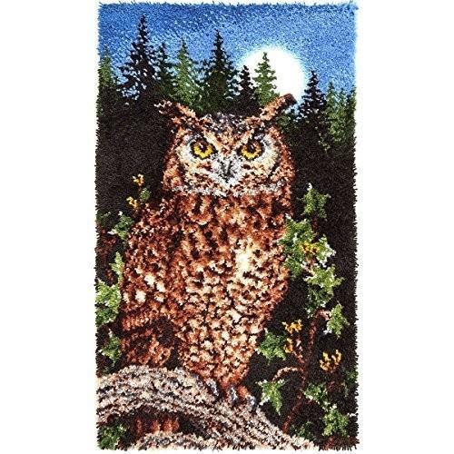 Spinrite Steel Wonderart Classic Latch Hook Kit, Majestic Owl by Spinr