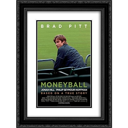 Moneyball 20x24 Double Matted 黒 黒 Ornate Framed Movie Poster Art Pri