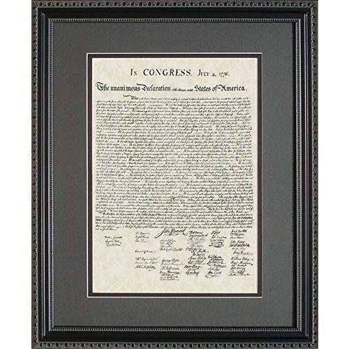 BigOfficeArt US Declaration of Independence Framed Art Gift Gift 16x20