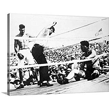 GREATBIGCANVAS Gallery-Wrapped Canvas Entitled Jack Dempsey (1895-1983 (1895-1983