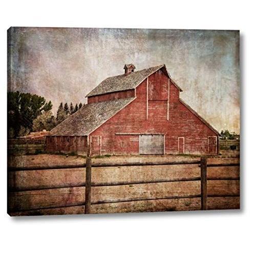 "York Road Road Barn by Ramona Murdock - 22"" x 28"" Gallery Wrapped Giclee Ca"