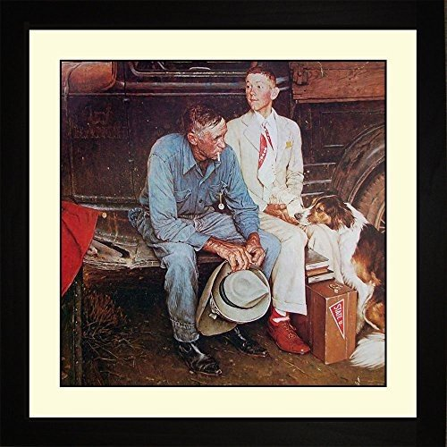 Norman Rockwell BREAKING BREAKING HOME TIES Framed Heading To College Wall Hang