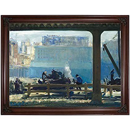 Historic Art Gallery 青 青 Morning 1909 by George Wesley Bellows Framed
