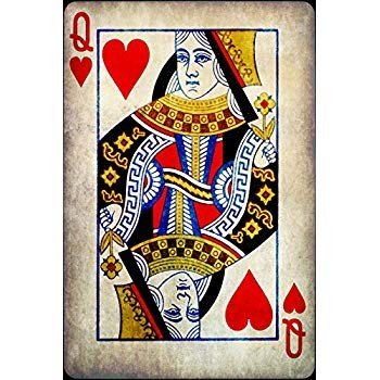 M&R Entertainment Merchanising Queen of Hearts Canvas Print Ready to to H