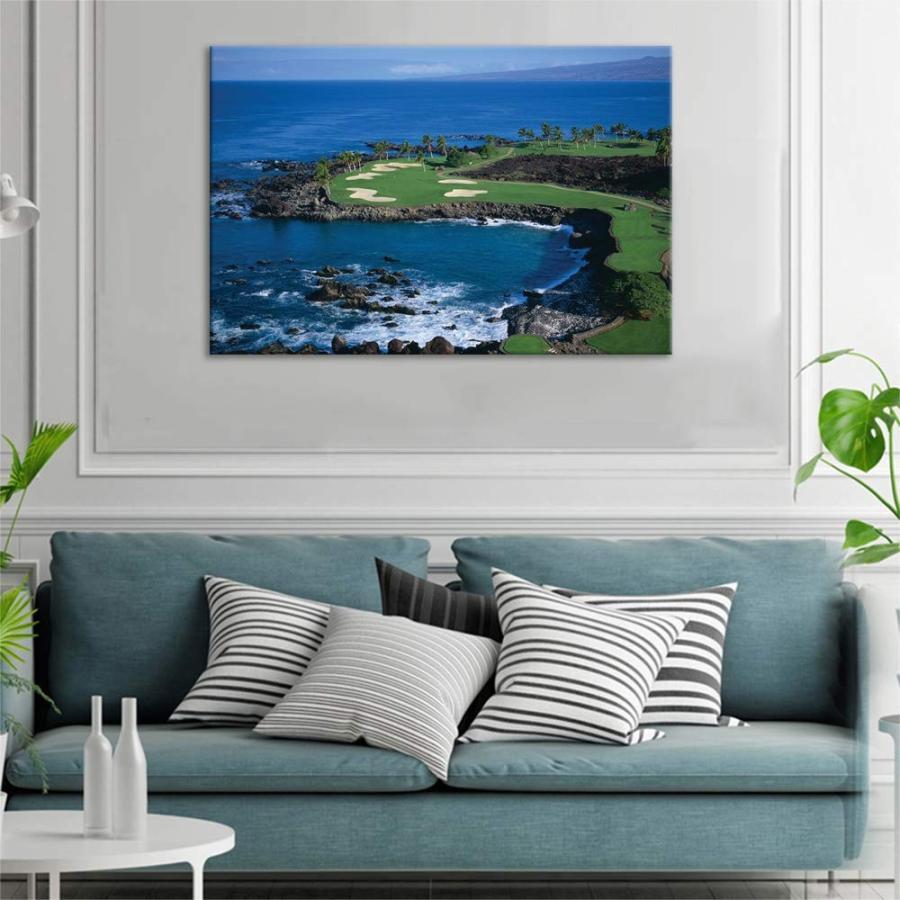 KALAWA 緑 Golf Course Scenery Canvas Wall Wall Art Golf Course Field Art