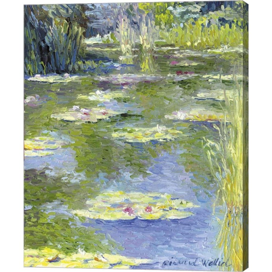 Lilies 1 by Richard Wallich Canvas Art Art Wall Picture, Gallery Wrap, 23