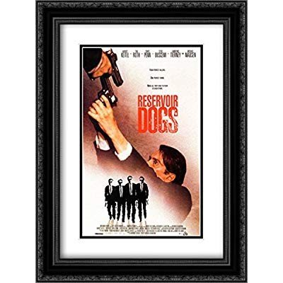 Reservoir Dogs Score 20x24 Double Matted 黒 Ornate Ornate Ornate Framed Movie Pos 650