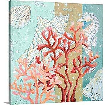 """Coral Reef II Canvas Wall Art Art Print, 36""""x36""""x1.25"""""""