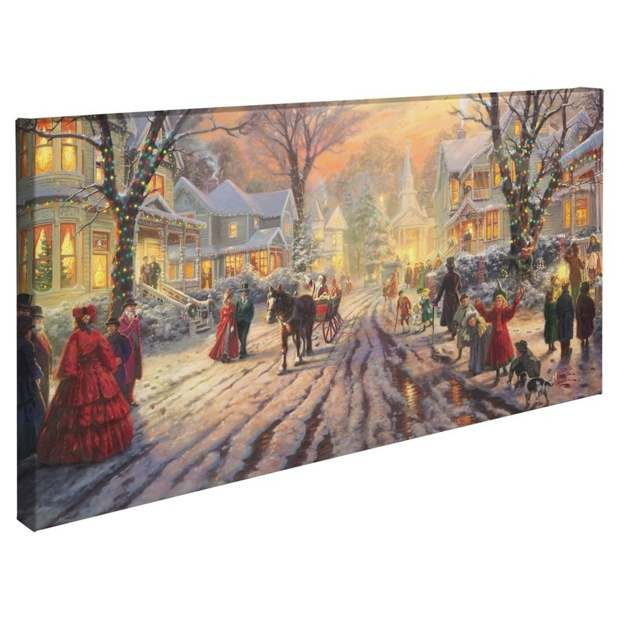 Thomas Kinkade A Victorian Christmas Christmas Carol 16 x 31 Gallery Wrapped Can