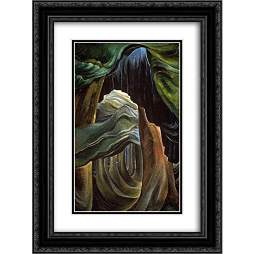 Emily Carr 2X Matted Matted 20x24 黒 Ornate Framed Art Print 'Forest, Brit