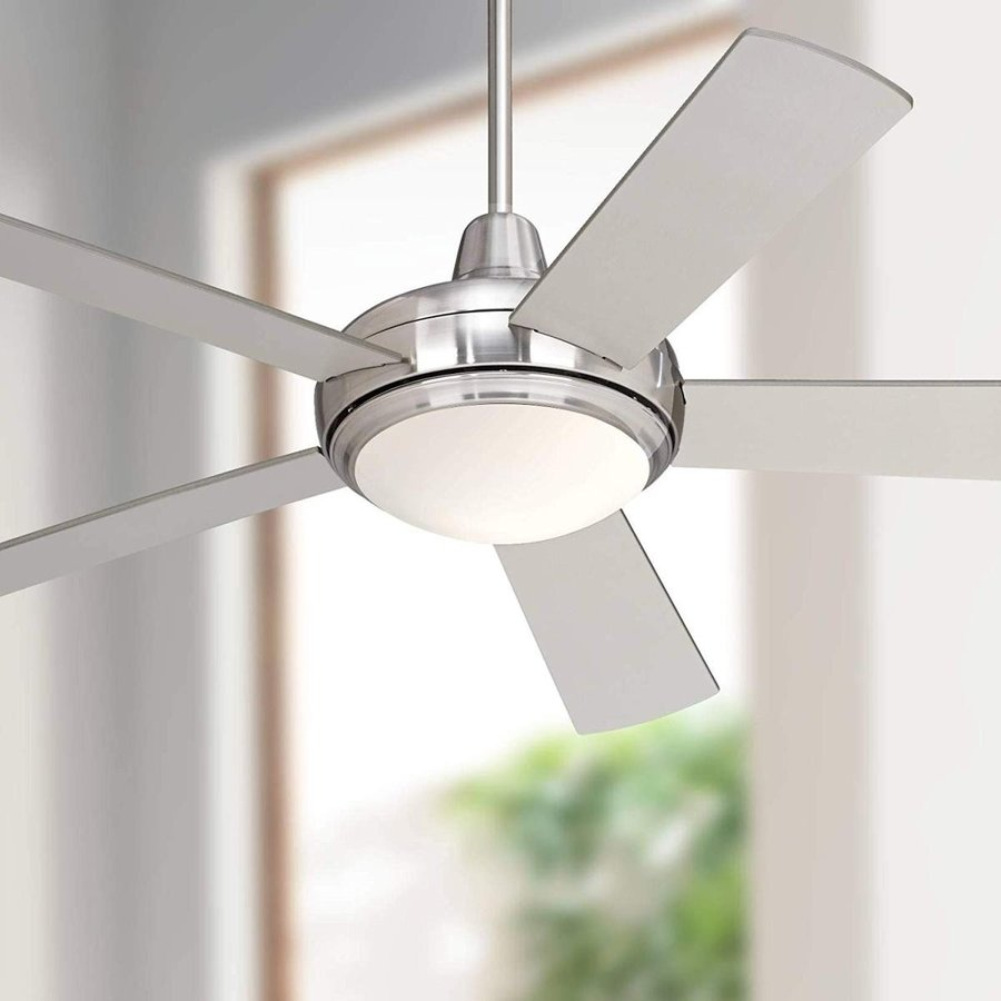 """52/"""" Casa Compass Brushed Nickel LED Ceiling Fan"""