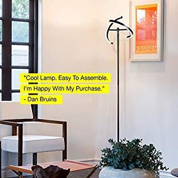 Brightech Halo Split - Modern LED Torchiere Floor Lamp - Tall, Pole, S