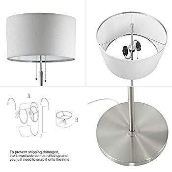 DEEPLITE Tall Standing Light - 2 Bulb Socket Floor Light, Modern Floor